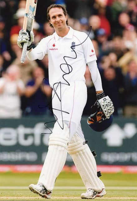 Michael Vaughan, England, signed 12x8 inch photo.